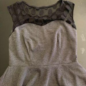Sweet Storm Peplum Dress